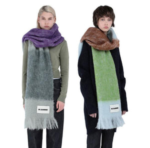 Fashion Cashmere Scarf With Muticolors JIL SANDER