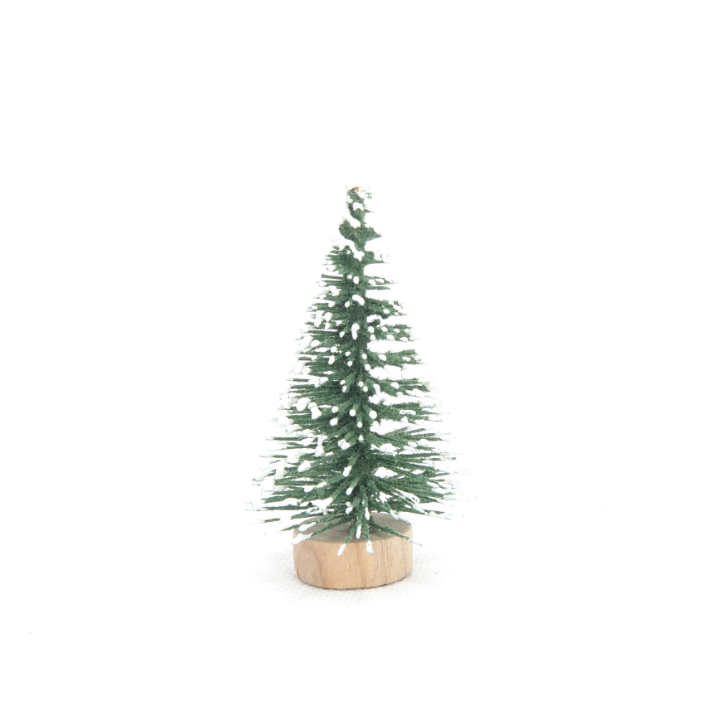 Christmas mini Christmas tree with white cedar flocking desktop window decoration Small Christmas decorations - Best Compression Socks Sale
