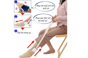 EasyUp Sock Puller - Compression Sock Put on Stocking Assistance Aid