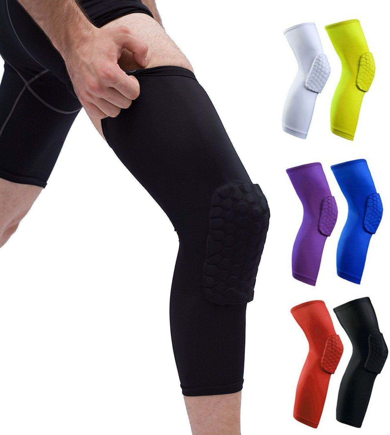 Compression Knee Sleeve Padded Leg Support HoneyComb Pad