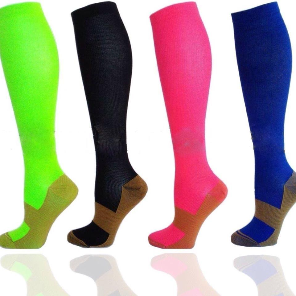 Copper Infused Compression Socks - Graduated Support Stockings-Workout And Recovery