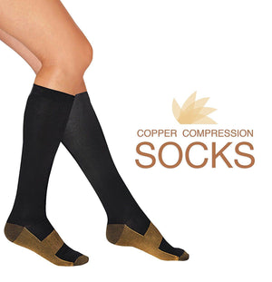 Copper Fit Compression Socks 20-30mmHg Support Stockings-Workout And Recovery