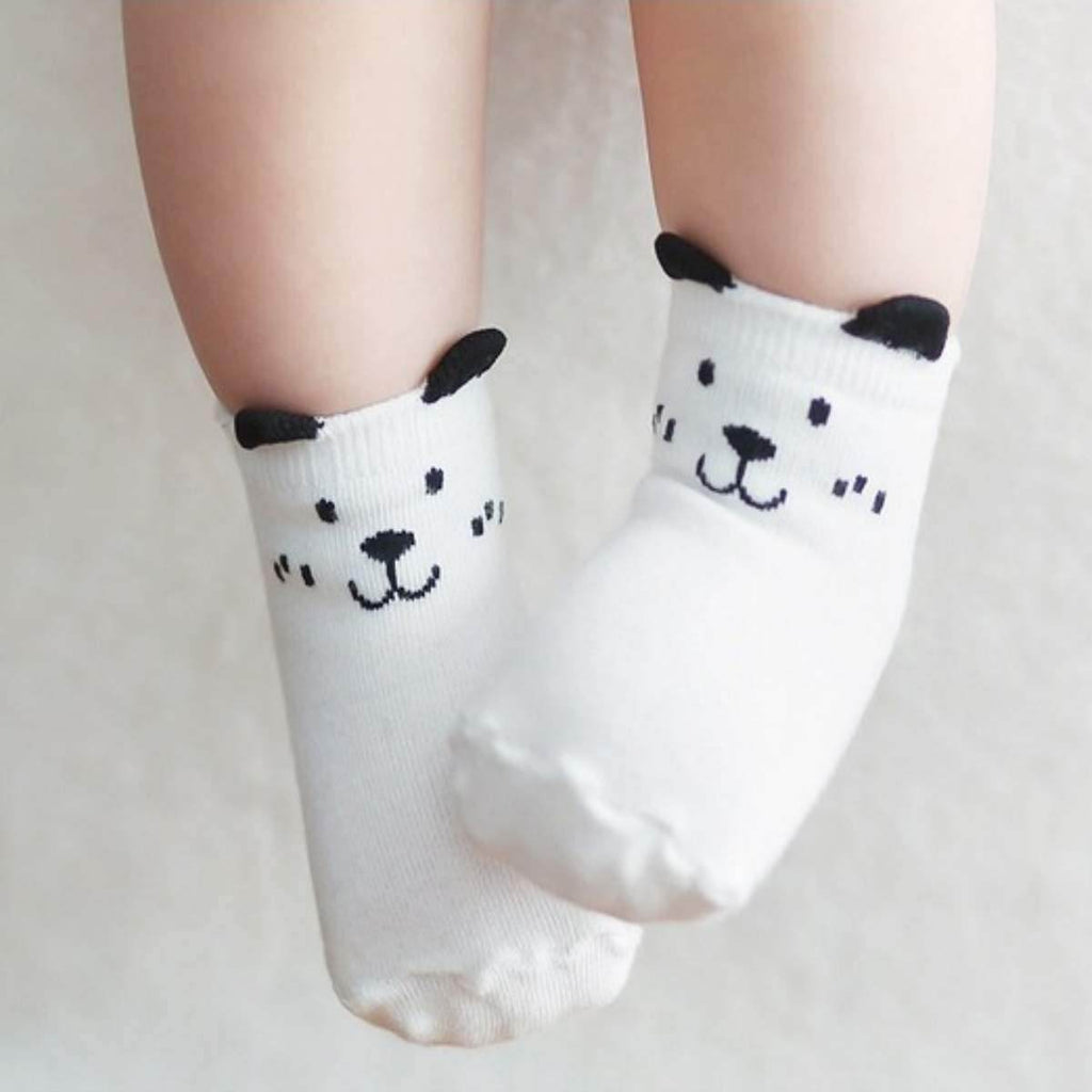 OWL AND DOG COZY BABY TODDLER KIDS SOCKS (0-4 YEARS OLD) - Best Compression Socks Sale