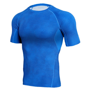 Quick Dry Workout Running Shirt Compression Fitness Tops Breathable Gym T-shirts Clothing Male Sport Shirts Men