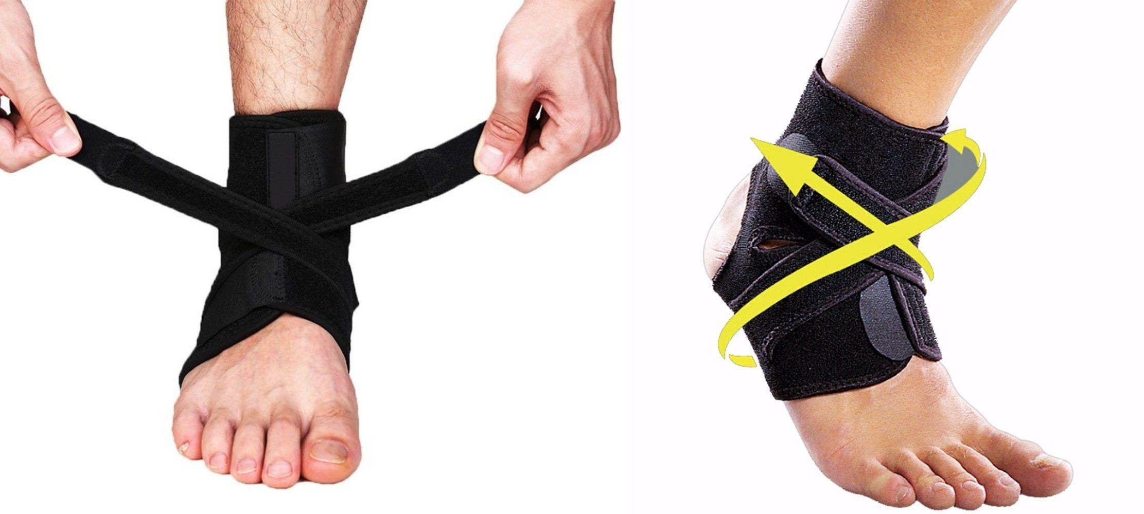 Ankle Brace Support Wrap with Adjustable Straps for Sprain & Tears