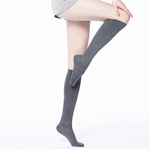Fun Colored Graduated Compression Socks Knee High Support Stockings 9 Colors (S-XXL)