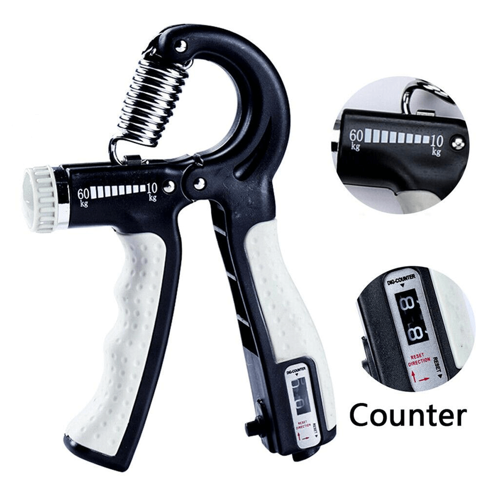 Hand Grip Strengthener With Integrated Counter