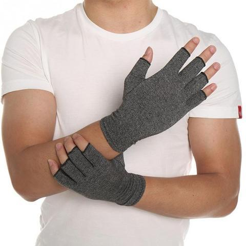 Premium Arthritis Compression Gloves For Men & Women - Smooth Grey