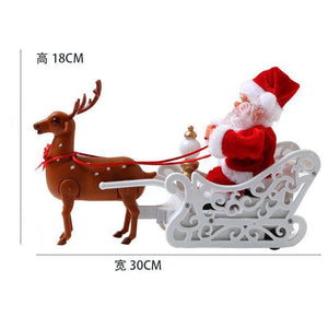 Music small doll pulled by electric Santa Claus deer cart - Best Compression Socks Sale
