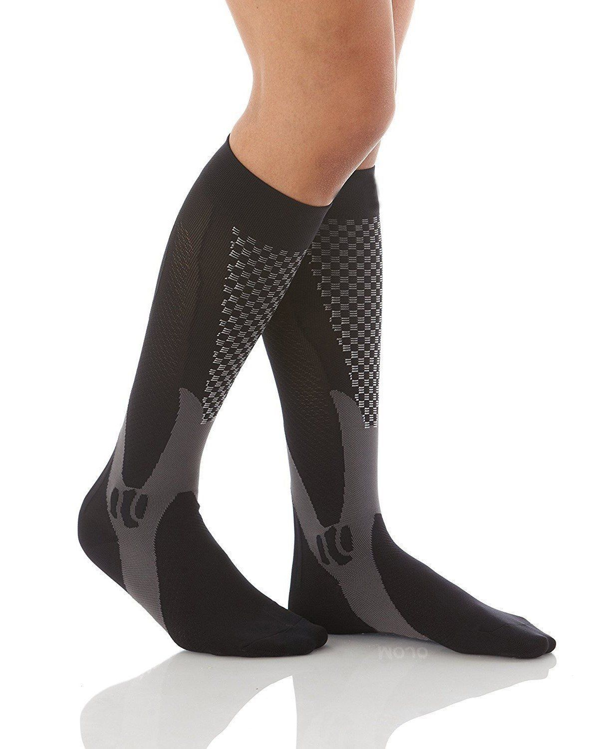 High Quality Sport Fitness Compression Socks - 20-30 mmHg ~ Graduated Support Stockings