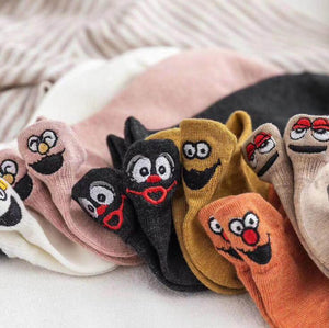 Super Soft Embroidered Happy Socks