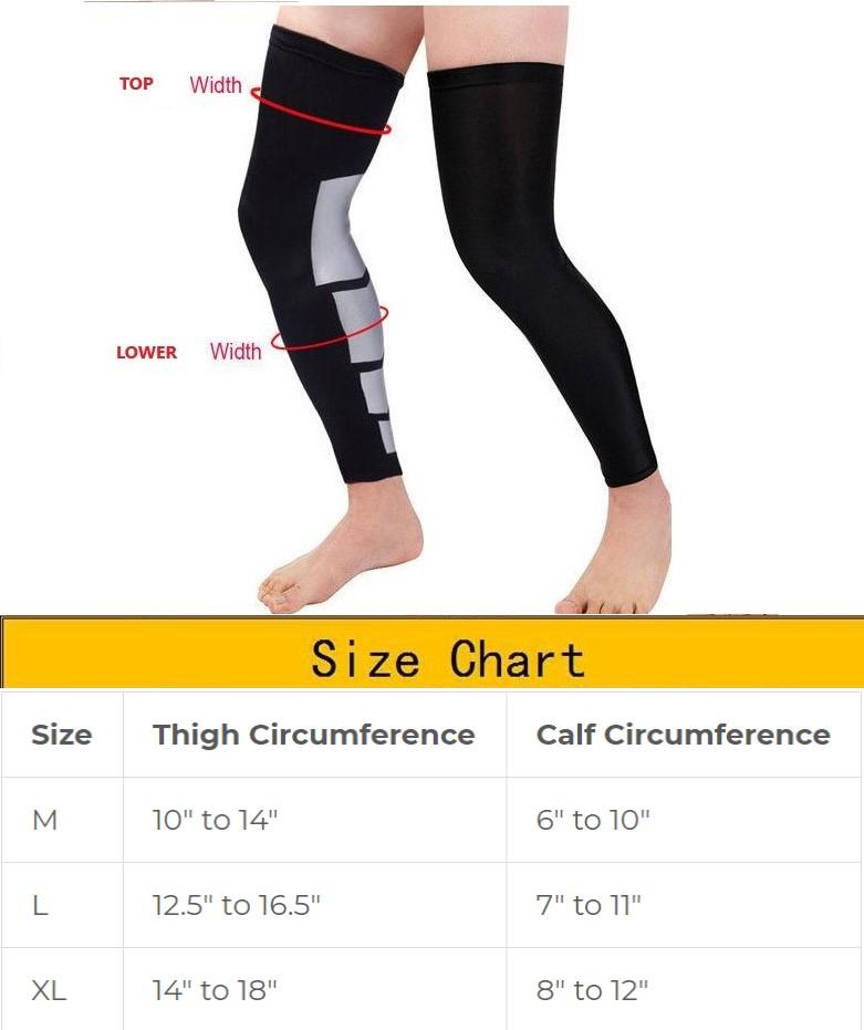 Thigh High Compression Leg Sleeves.