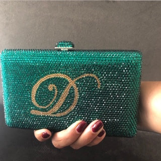 Personalised Crystal Clutch