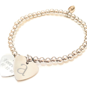 Personalised Double Heart Bracelets