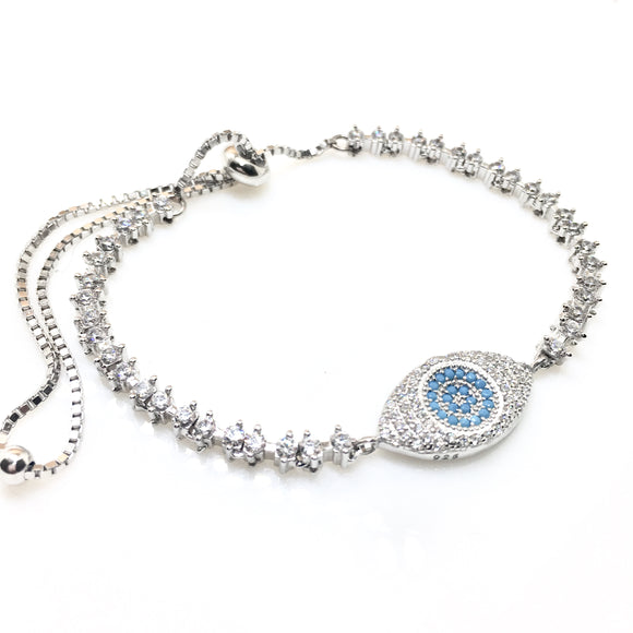 Evil Eye Crystal Bracelet