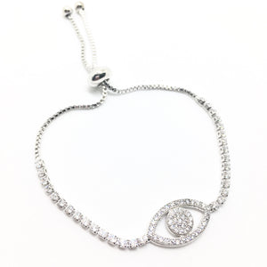 Simply Elegant Crystal Diamond Evil Eye Bracelet