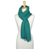 Angora wool scarf hand spun and hand woven in teal