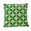 Handmade Kashmir Wool Cushion in Green 50x50cm
