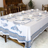 Table cloth fish block print