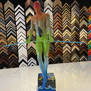 Limited Edition- Sculpture  Balancing Man Hand painted By Artist