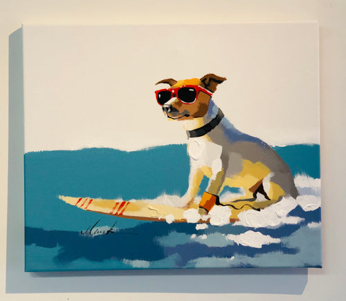 Surfing Dog - Canvas Painting 24