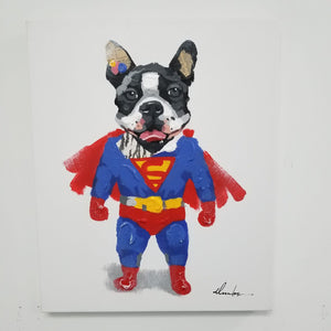 "Super Dog On Canvas 16"" x 20"""