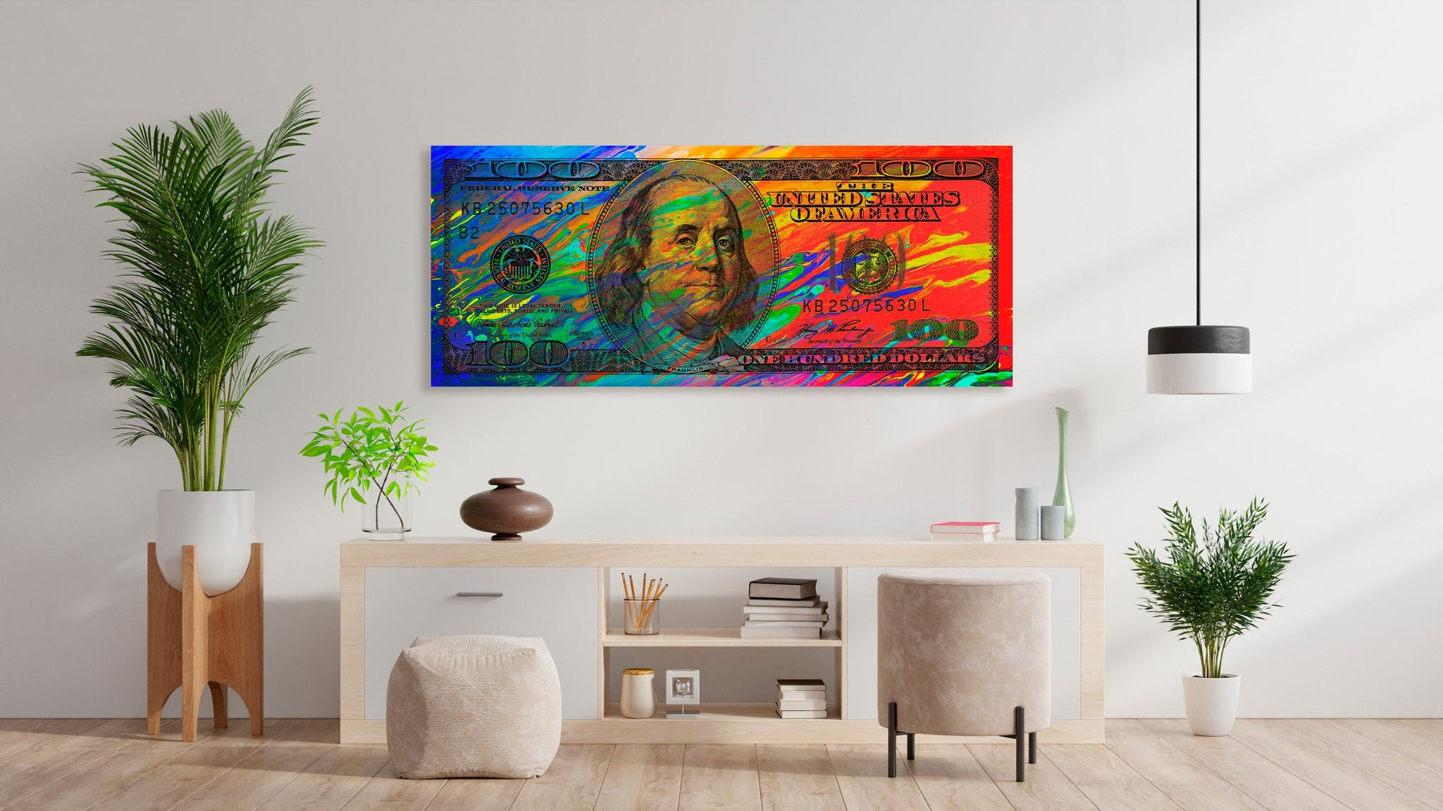 Wall Art 100 Dollar Bill