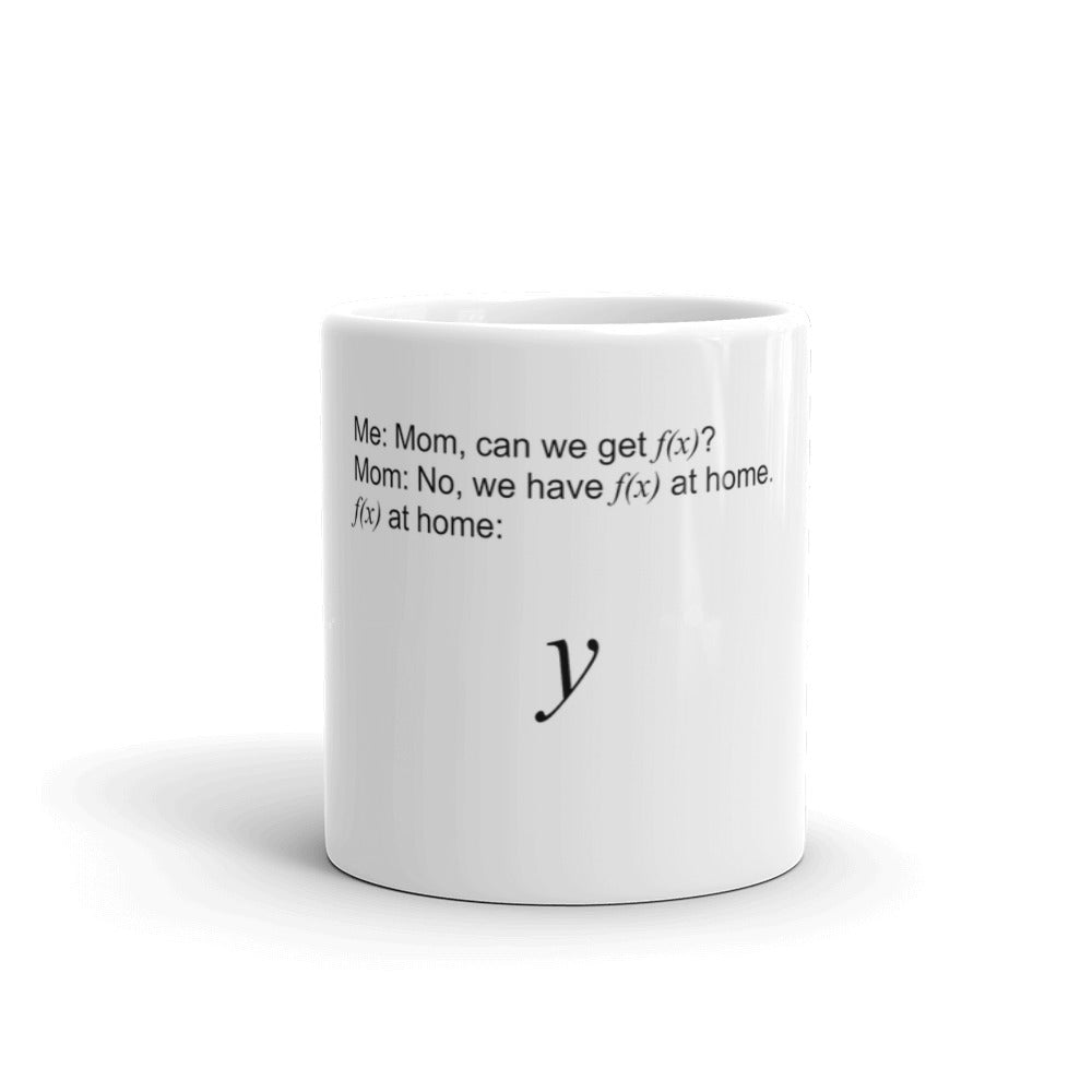 f(x) at home meme mug