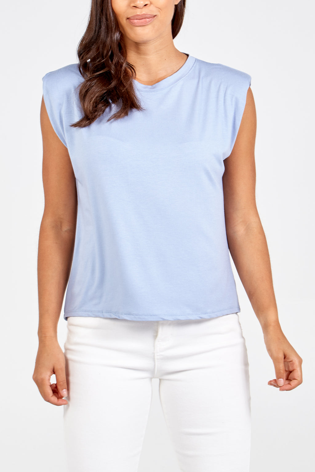 Plain Shoulder Padded Top