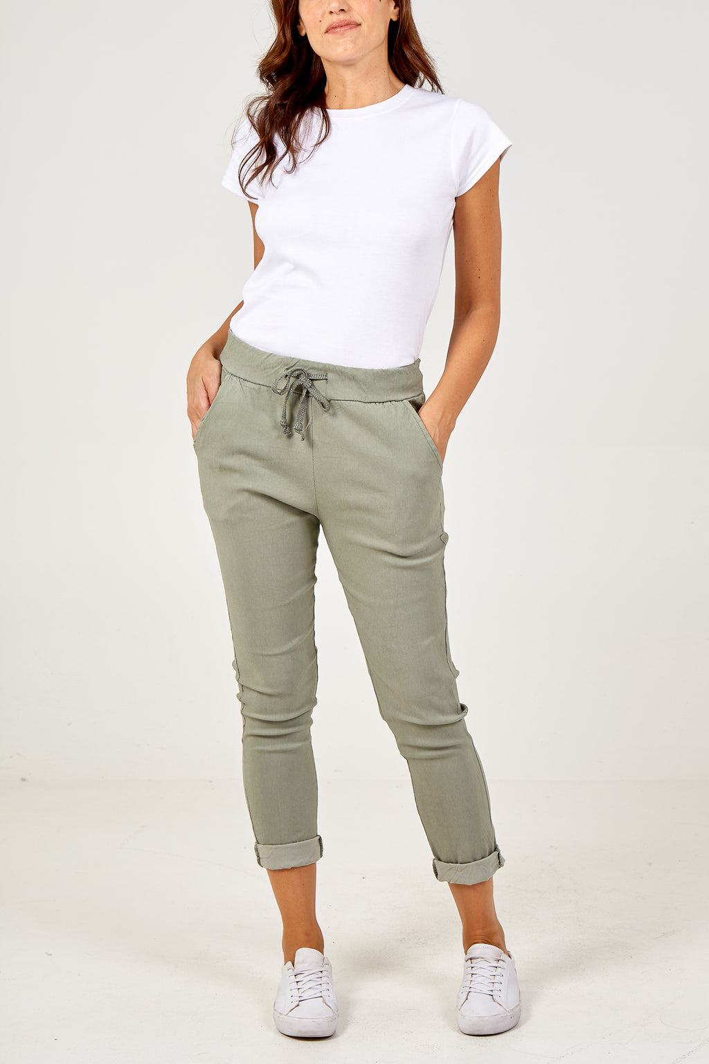 Magic Plain Super Stretch Crushed Trousers