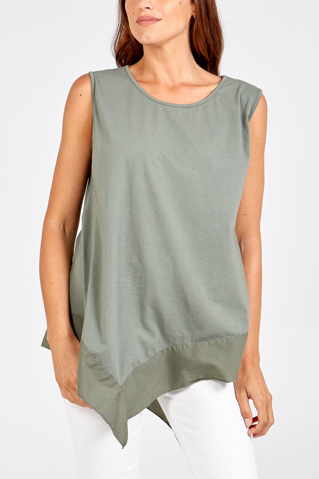 Sleevless Asymmetric Top