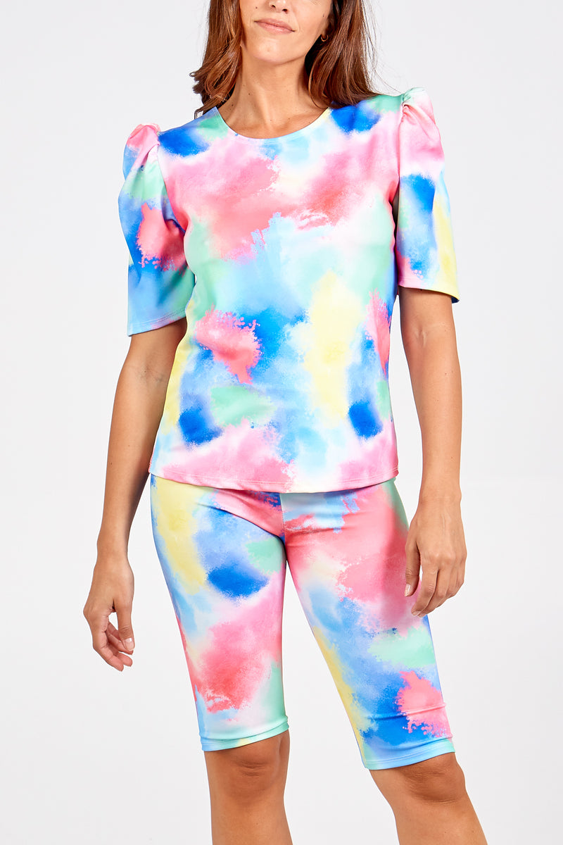 Tie Dye T-Shirt Short Set