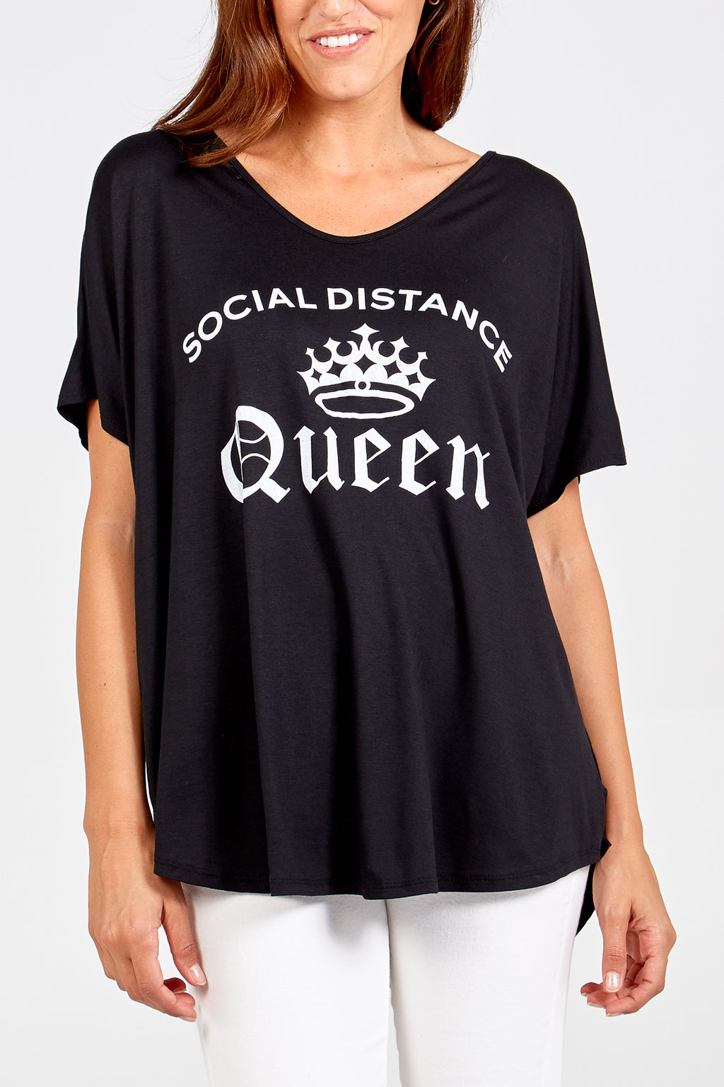 Social Distance Queen High Low Tee