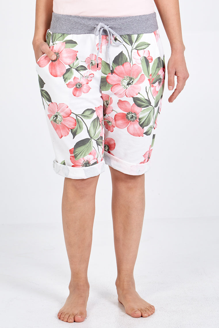 Flower Draw String Shorts