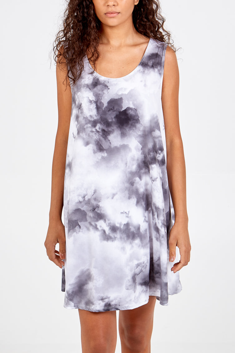 Tie Dye Short Dress