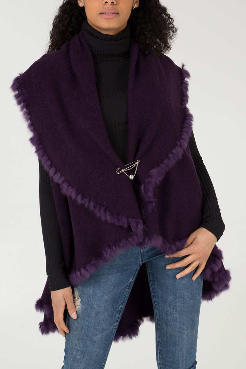 Fur Trim Cape