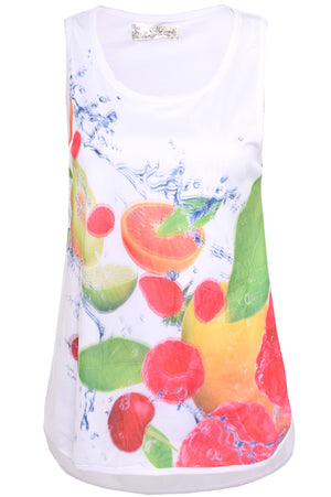 Juicy Fruit Double Layer Tank Top