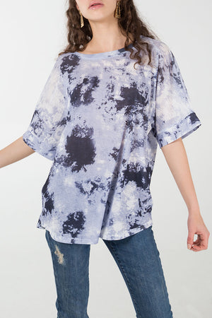 Splash Print Oversized T-Shirt