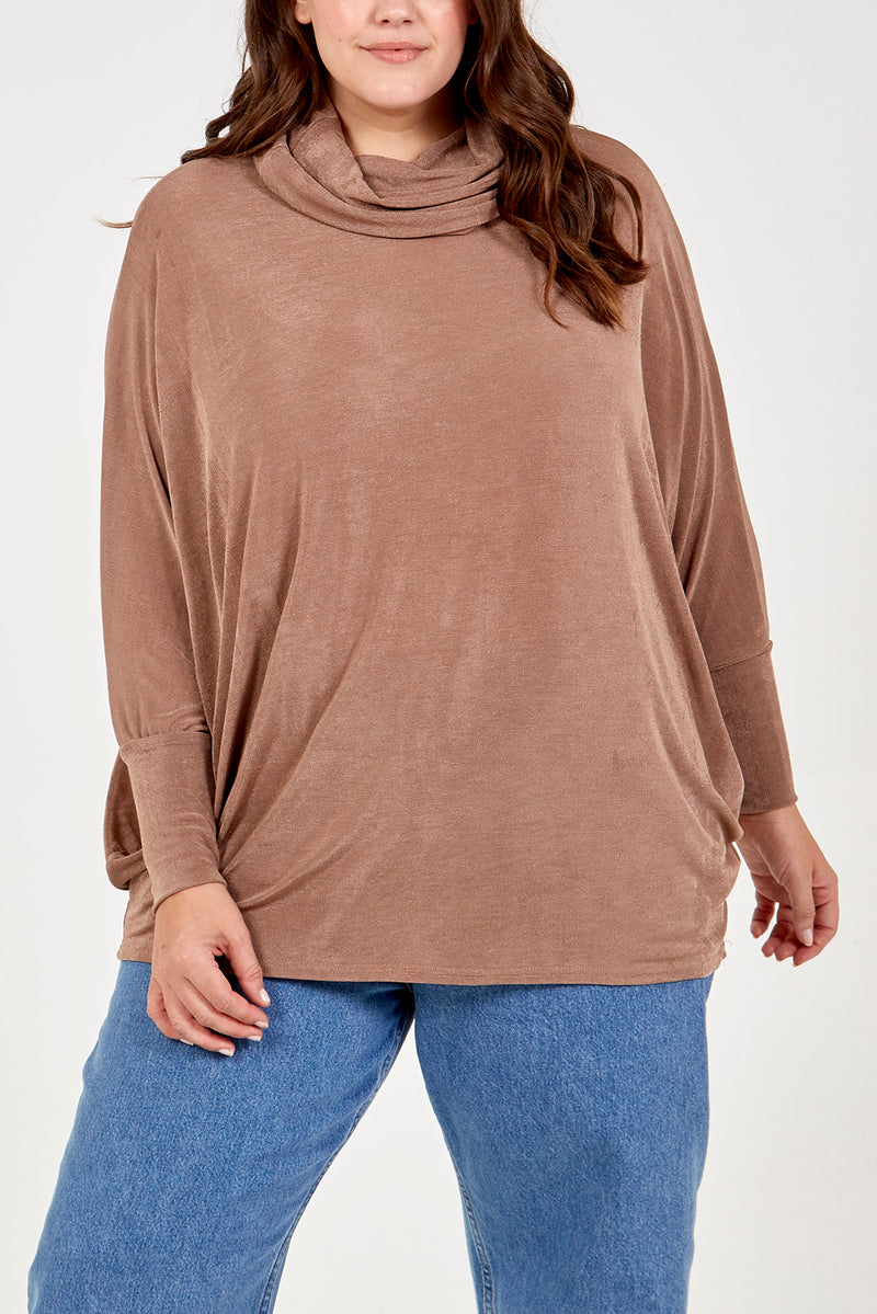 Curve - Roll Neck Oversized Batwing Jumper