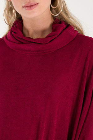 Roll Neck Oversized Batwing Top