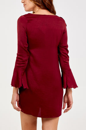 Asymmetric Frill Tunic Dress