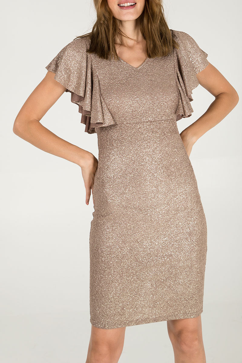 Frill Detail Glitter Dress
