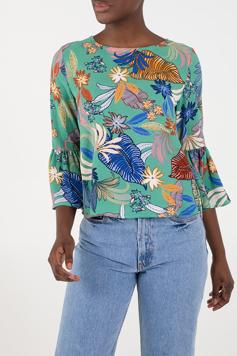 Flared Sleeve Top