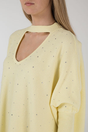 Choker Neck Diamante Jumper