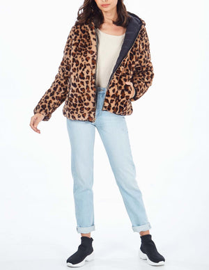 Reversible Animal Fur And Puffer Jacket