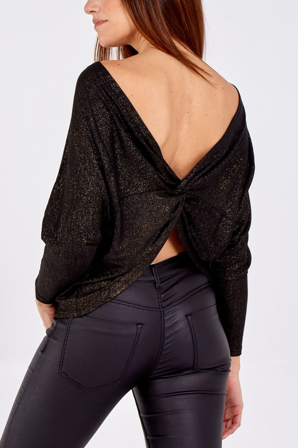 Knot Back Batwing Top
