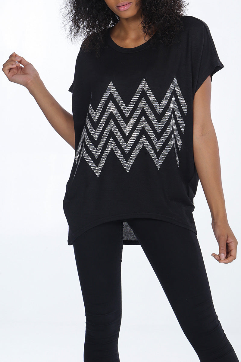 Zig Zag Diamante Top