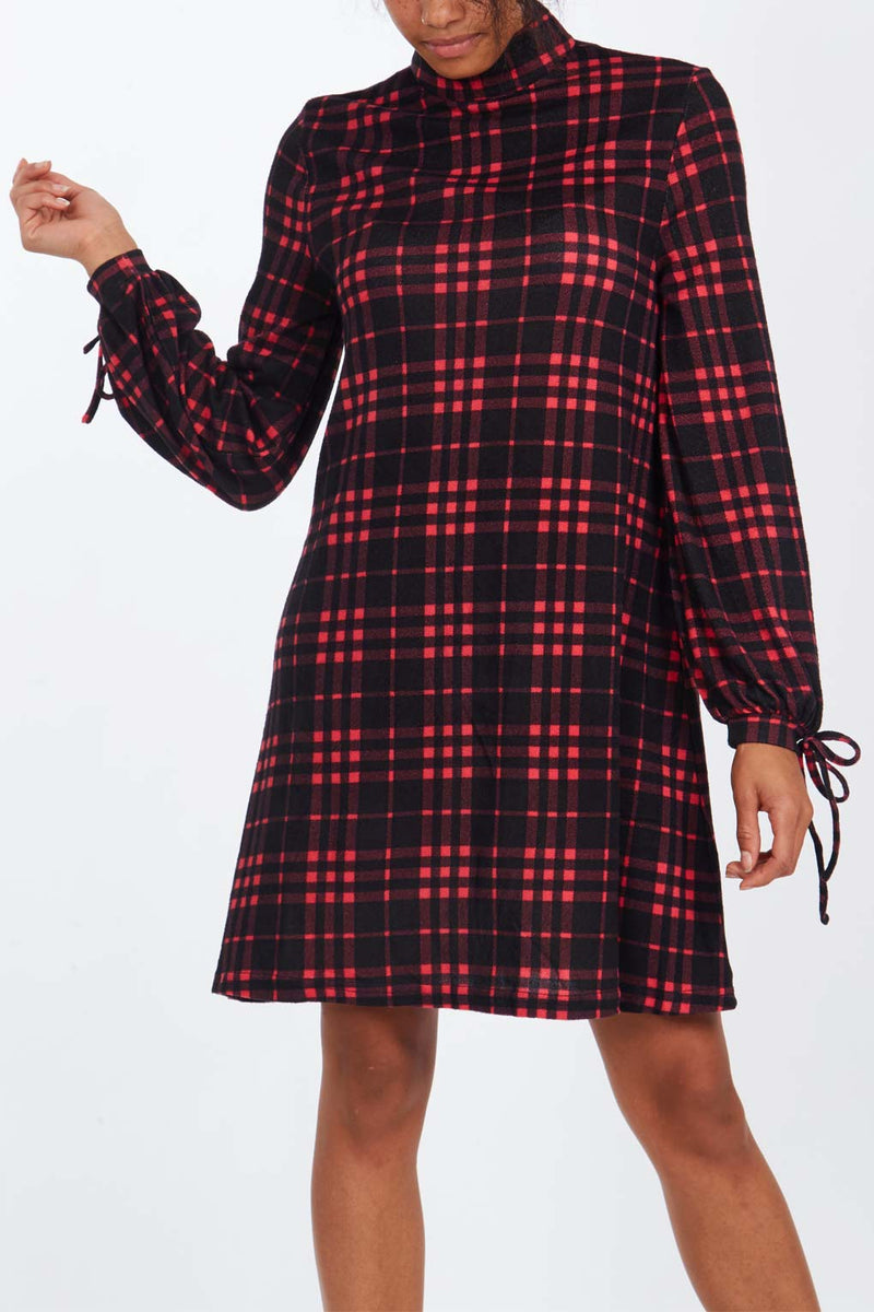 Tie Sleeve Swing Dress