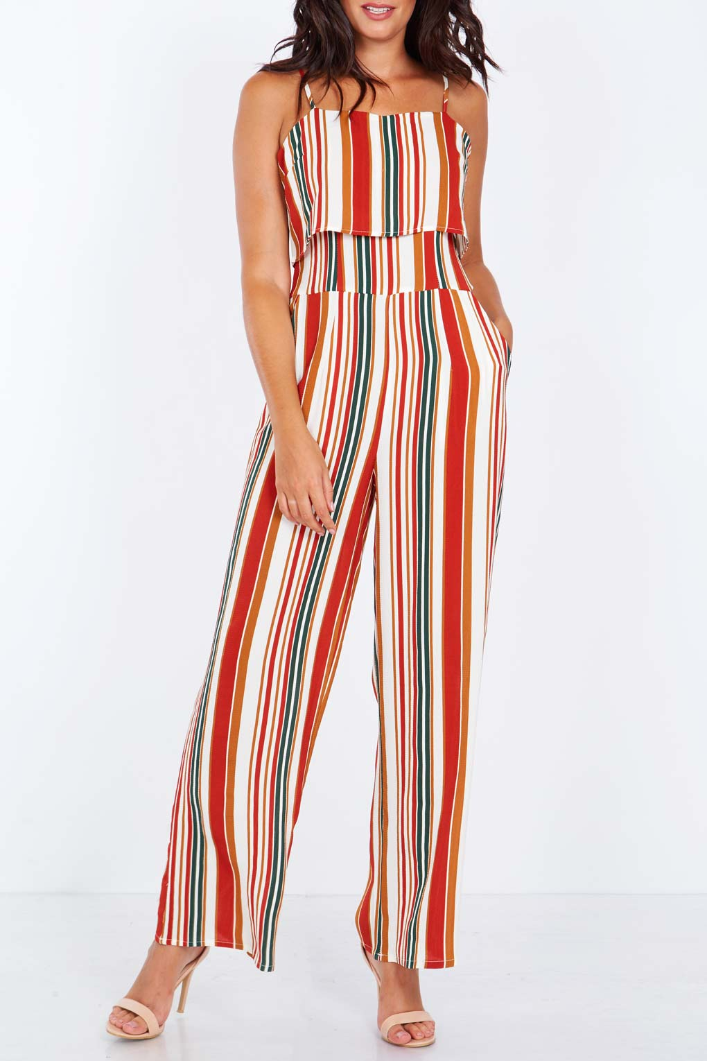 Layered Top Jumpsuit