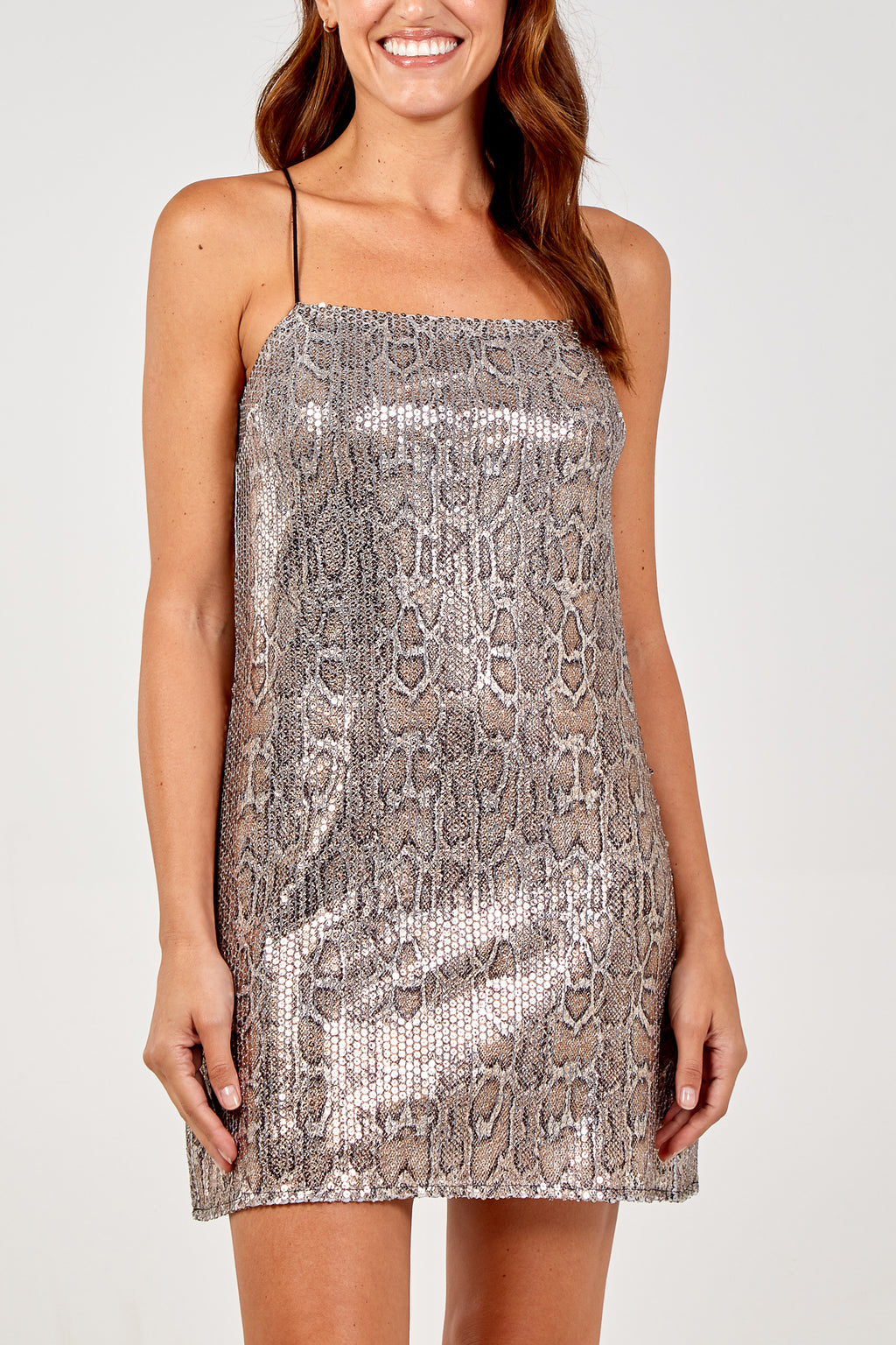 Snake Sequin Mini Dress